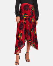 Martha Parrot Devoré Handkerchief Skirt, MULTI, hi-res