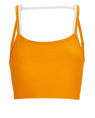 Merlin Open Back Sports Bra, ORANGE, hi-res