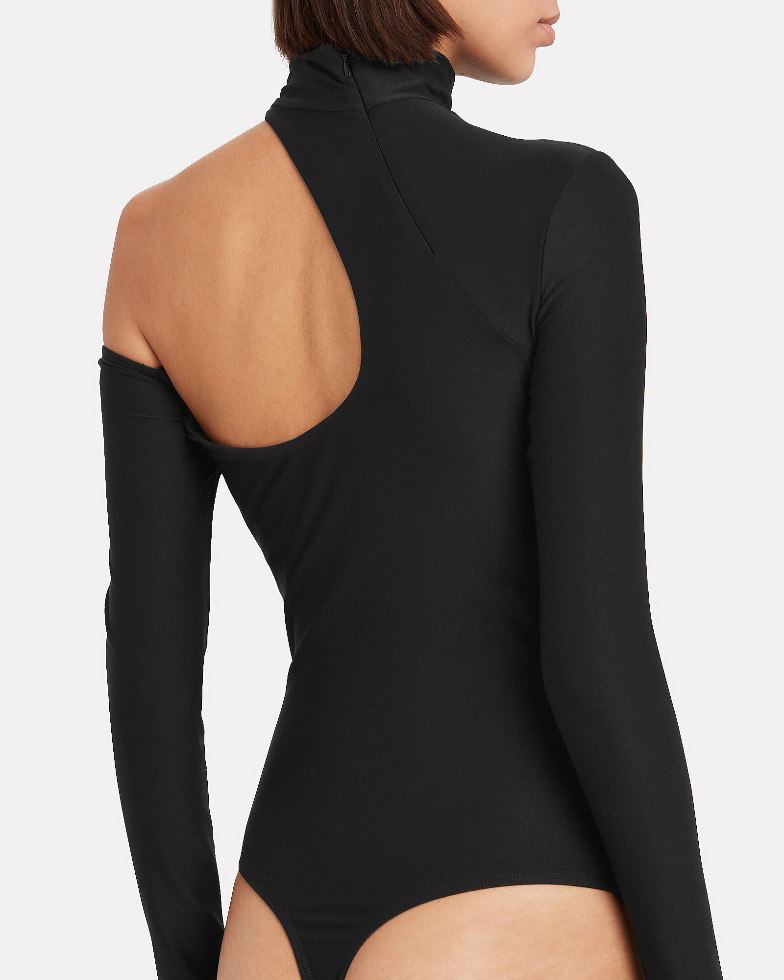 Barclay Jersey Cut-Out Bodysuit, BLACK, hi-res