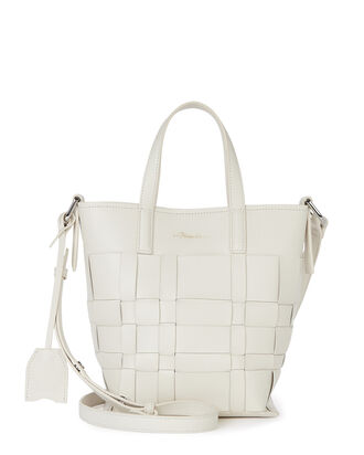Odita Mini Lattice Bucket Bag, WHITE, hi-res