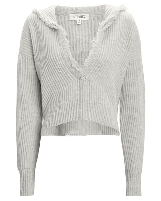 Caitlin Hooded Wool-Cashmere Sweater, GREY-LT, hi-res