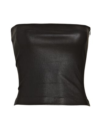 Strapless Leather Top, BLACK, hi-res