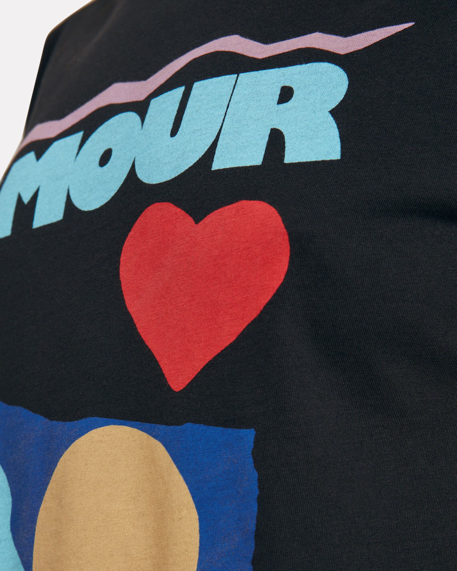 Amour Jersey T-Shirt, BLACK, hi-res