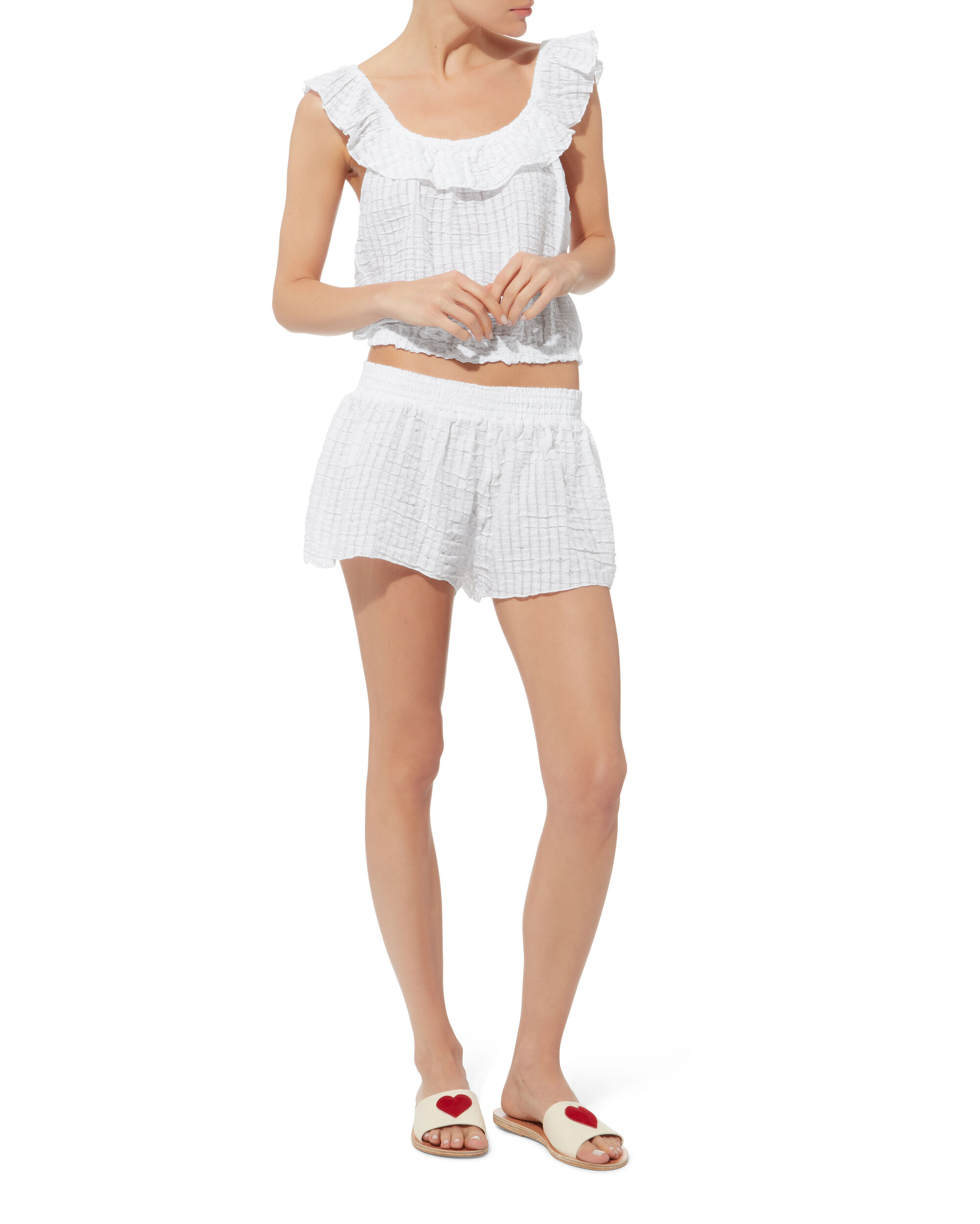 Meadow Shorts, WHITE, hi-res