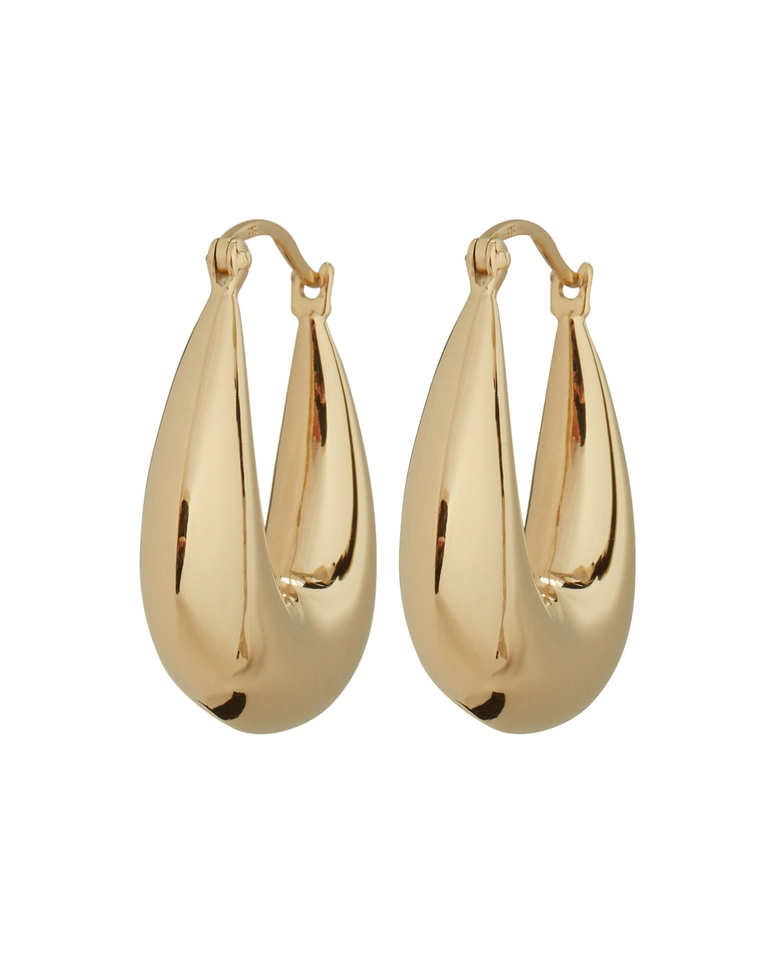 Thick Hoop Earrings, GOLD, hi-res