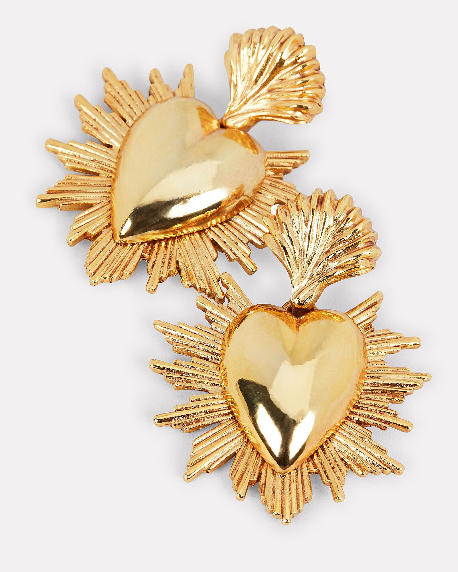 Hearts and Stars Earrings, GOLD, hi-res
