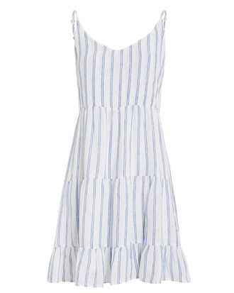 Mattie Linen Mini Dress, WHITE/STRIPES, hi-res