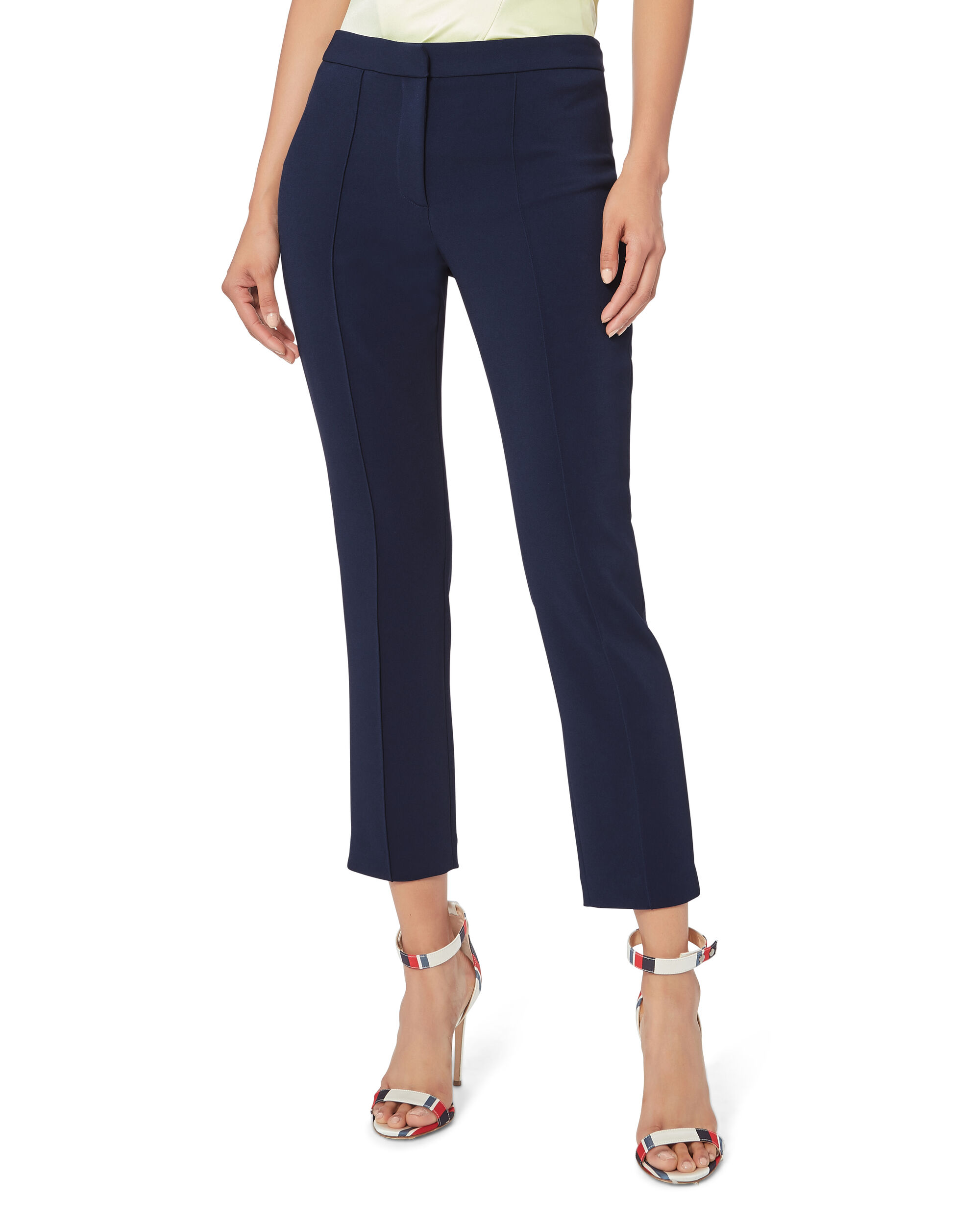 Cigarette Pants, NAVY, hi-res