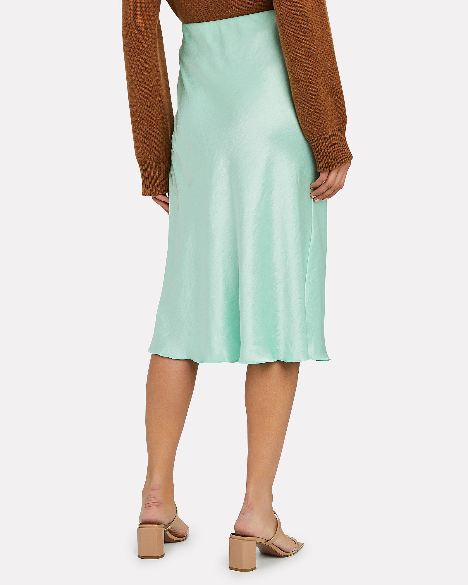 Zarina Slip Skirt, GREEN-LT, hi-res
