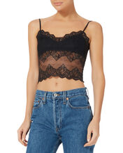 Lace Crop Cami, BLACK, hi-res