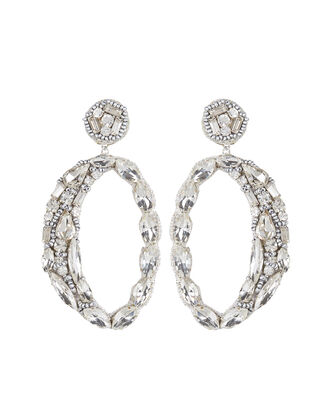 Deepa by Deepa Gurnani Fredea Earrings, CLEAR, hi-res