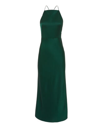 Green Midi Gown, GREEN, hi-res