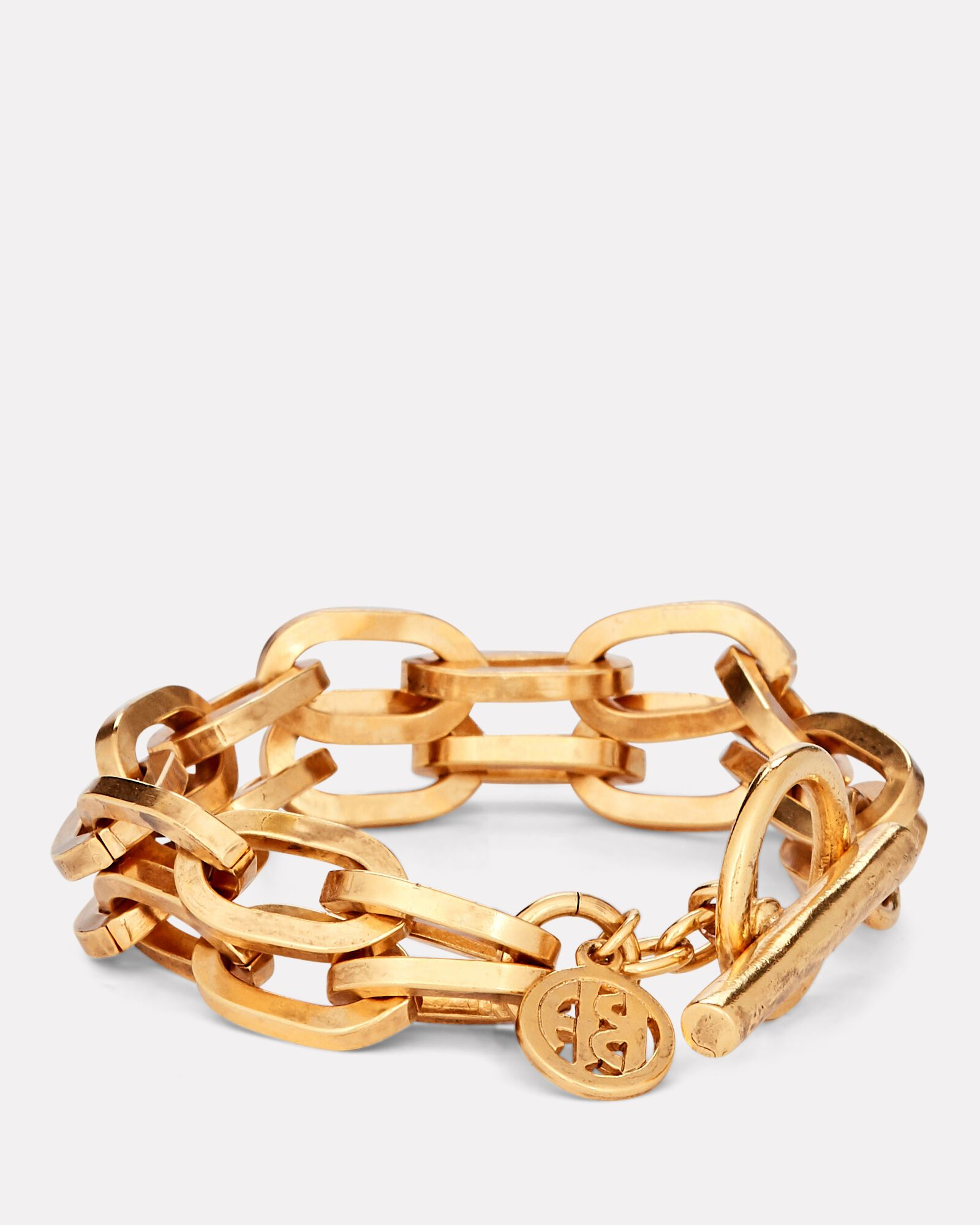 Double Chain-Link Bracelet, GOLD, hi-res