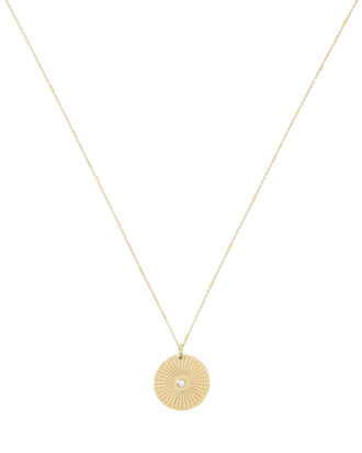 Sunbeam Diamond Necklace, GOLD, hi-res