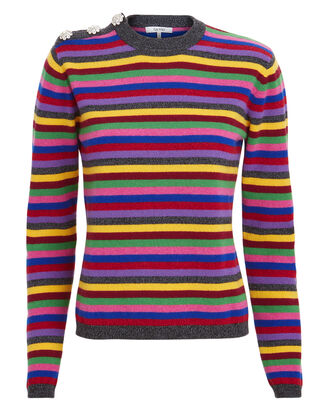 Striped Cashmere Sweater, RAINBOW/STRIPES, hi-res