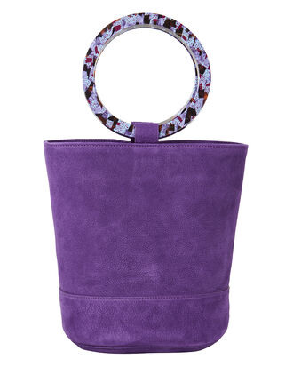 Bonsai Purple Suede Bucket Bag, PURPLE, hi-res