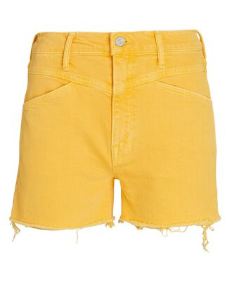 The Dazzler Front Yoke Denim Shorts, OLD GOLD, hi-res