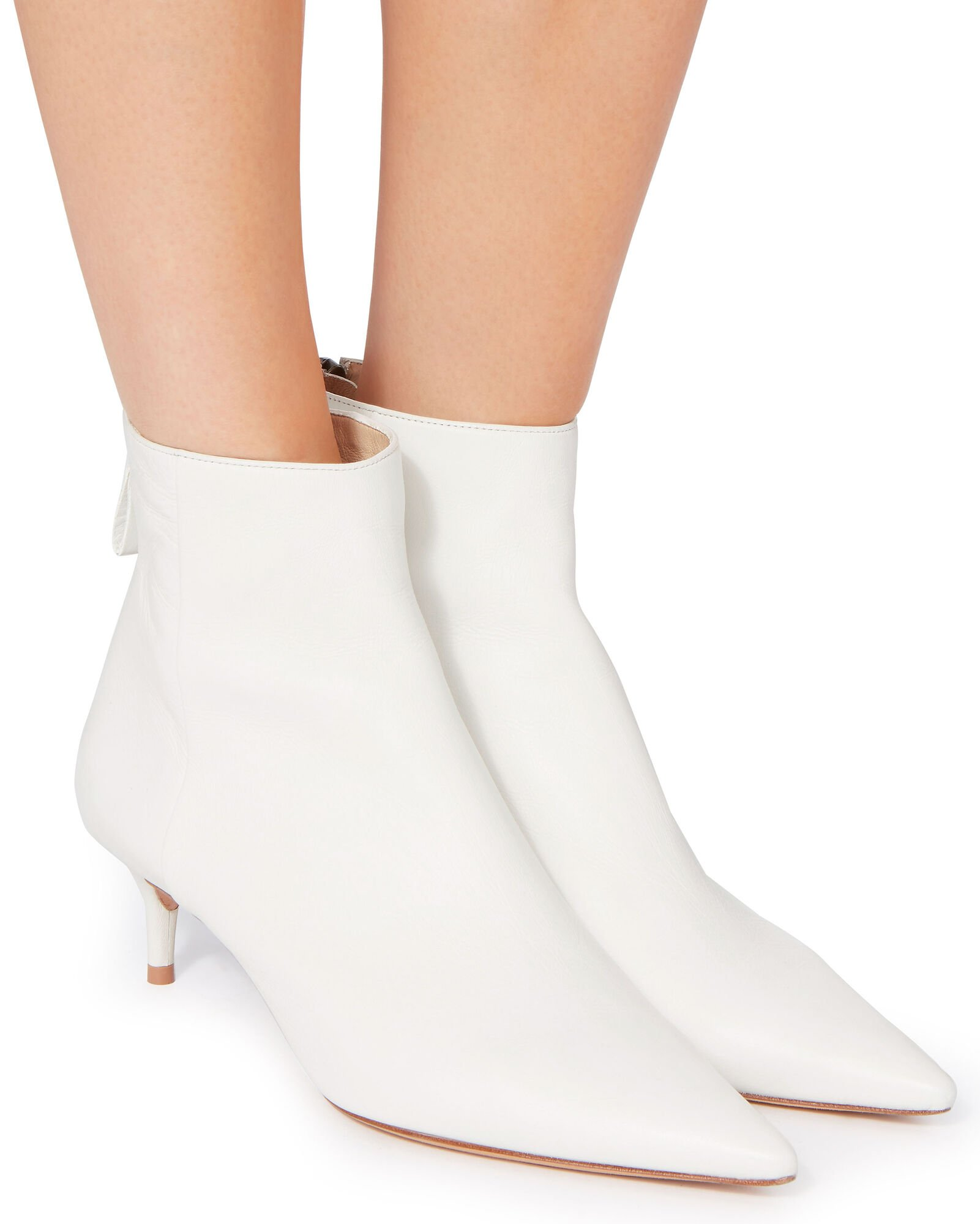 Kittie 50 Leather Bootie, WHITE, hi-res