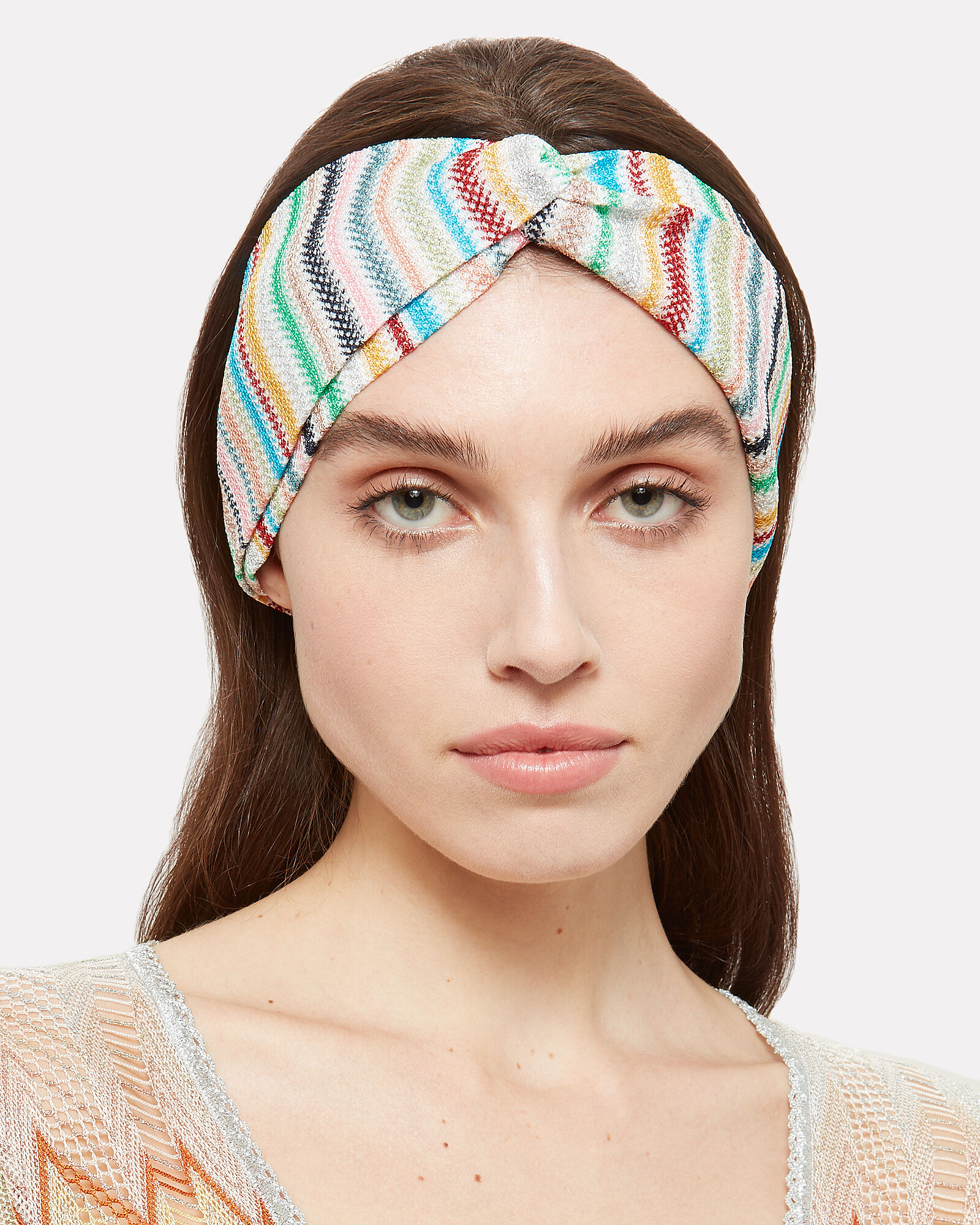 Rainbow Turban Headband, MULTI, hi-res