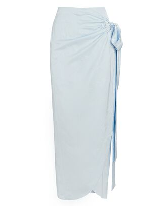 Bonnan Pareo Wrap Skirt, LIGHT BLUE, hi-res