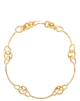 Samoa Triple Circle Links Necklace, GOLD, hi-res
