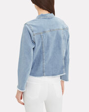 Kayla Denim Jacket, BLUE/WHITE, hi-res