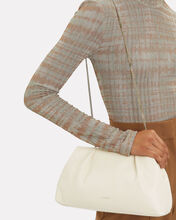 Florence Soft Snake-Embossed Pouch, WHITE, hi-res