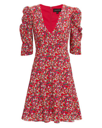 Colette Mini Dress, RED/FLORAL, hi-res