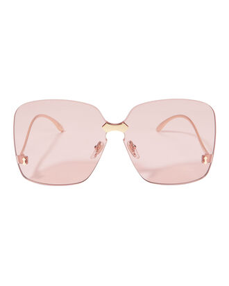 ed55cc36399 Square Rimless Pink Sunglasses
