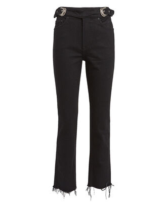 Zoey Belted Cropped Jeans, BLACK DENIM, hi-res