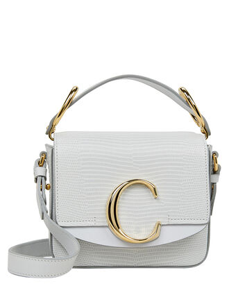 "Mini Chloé ""C"" Embossed Bag, ICE BLUE, hi-res"
