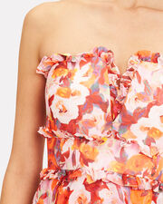 Darla Bustier Dress, WHITE/RED/ORANGE, hi-res