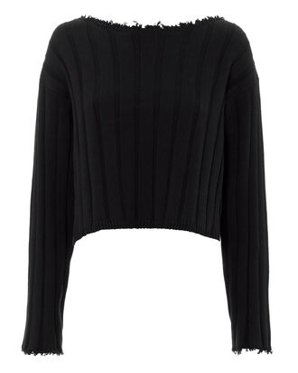 Off Shoulder Pullover, BLACK, hi-res