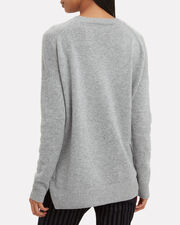 High-Low Grey Sweater, GREY, hi-res