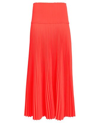 Hendrin Pleated Skirt, NEON ORANGE, hi-res