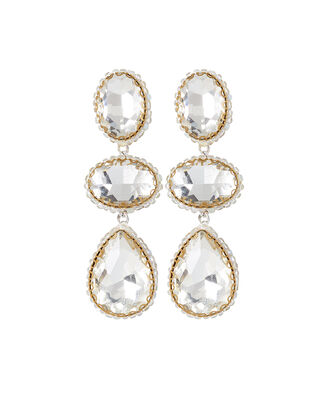 Deepa by Deepa Gurnani Hadlee Earrings, CLEAR, hi-res