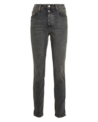 Lawson High-Rise Skinny Jeans, GREY, hi-res