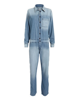 Chambray Mechanic Jumpsuit, LIGHT BLUE, hi-res