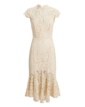 Iva Lace Dress, LIGHT BEIGE, hi-res