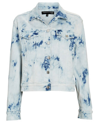 Kinley Tie-Dyed Denim Jacket, IVORY/LIGHT WASH DENIM, hi-res