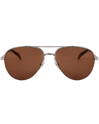 Mirrored Aviator Sunglasses, GOLD, hi-res