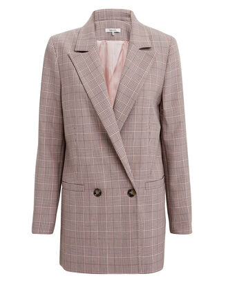 Suiting Silver Pink Plaid Jacket, PINK PLAID, hi-res