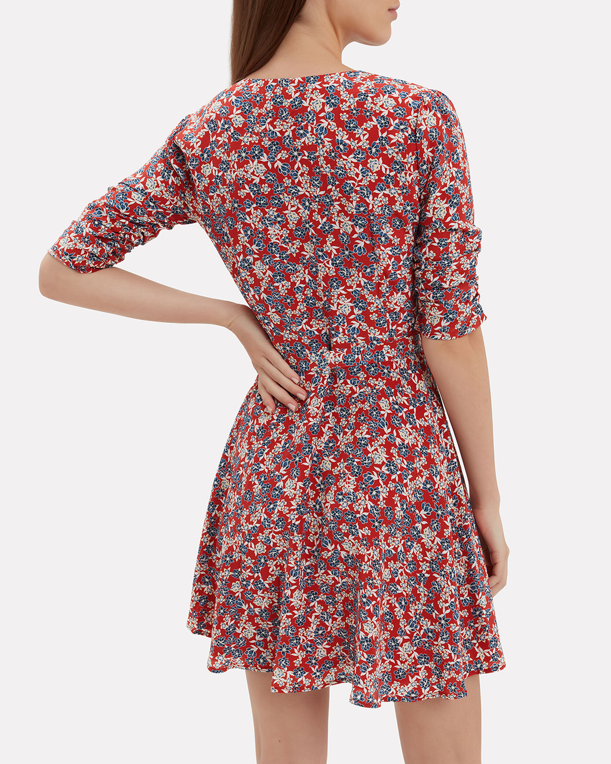 Red Blossom Mini Dress, RED, hi-res