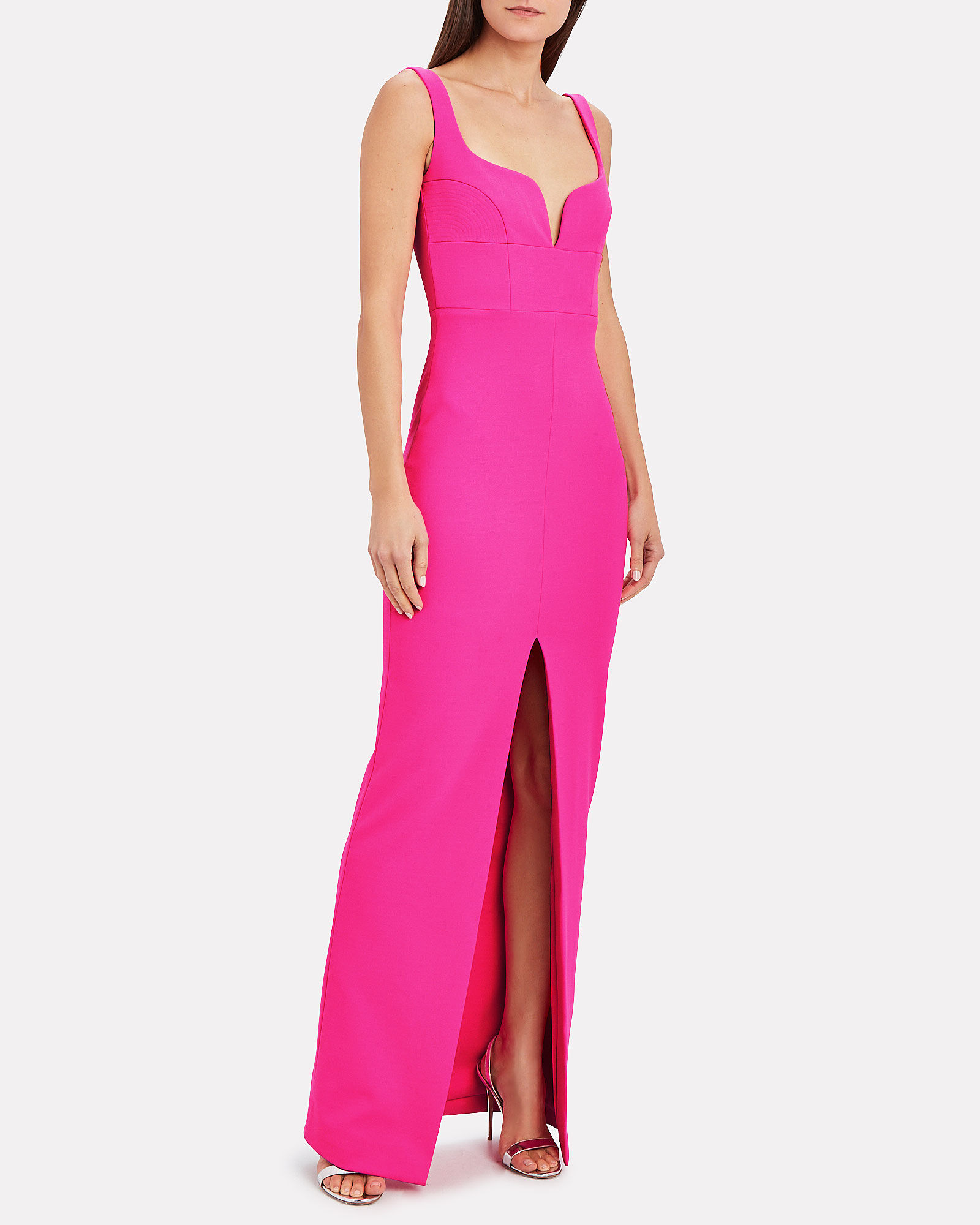 Linza Crepe Gown, PINK, hi-res