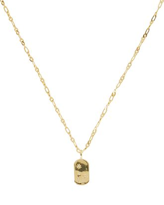 Lara Starburst Tag Necklace, GOLD, hi-res
