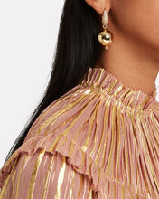 Full Moon Drop Earrings, GOLD, hi-res