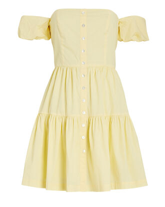 Elio Off-The-Shoulder Mini Dress, LIGHT YELLOW, hi-res