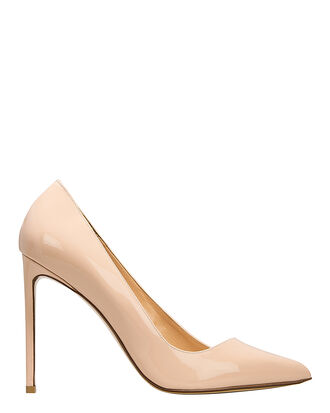 Nude Patent Leather Pumps, NUDE, hi-res
