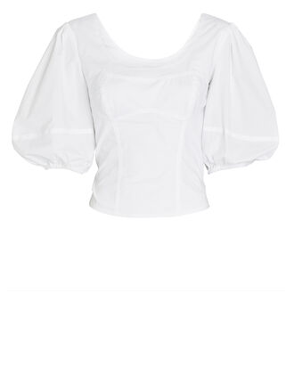 Joy Puff Sleeve Cotton Top, , hi-res