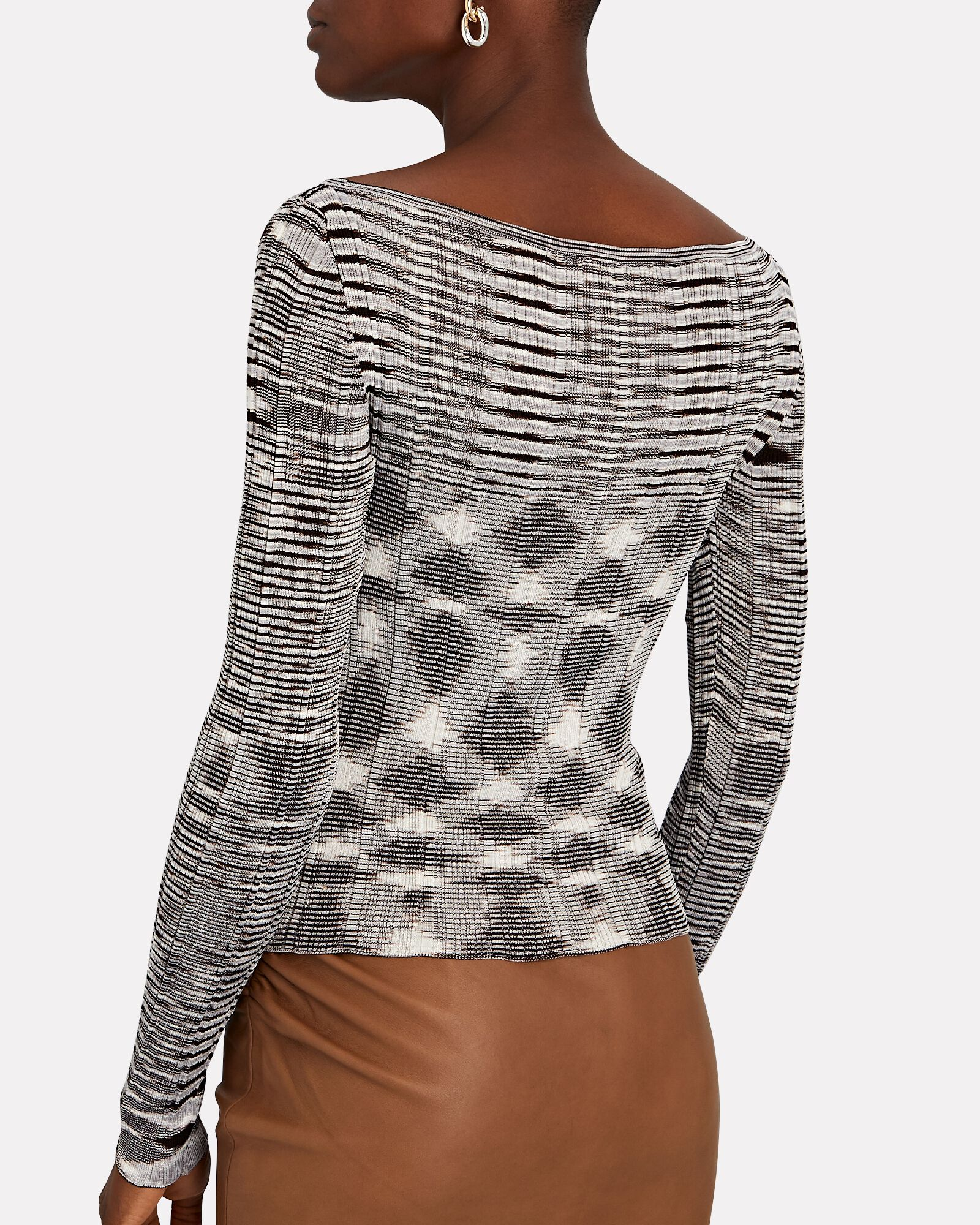 Space Dyed Long Sleeve Knit Top, MULTI, hi-res
